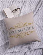 Personalised Mnr & Mev Scatter Cushion