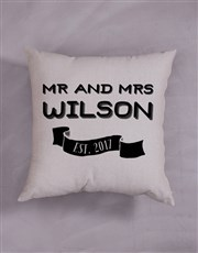 Personalised Mr and Mr Scatter Cushion