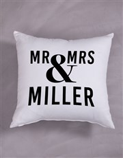 Personalised Mr & Mrs Scatter Cushion