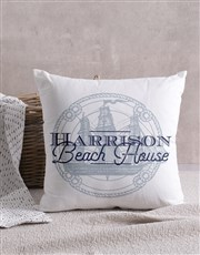 Personalised Beach House Scatter Cushion