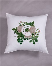 Personalised Floral Initial Scatter Cushion
