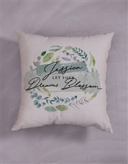 Personalised Dreams Blossom Scatter Cushion