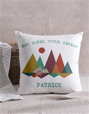 Personalised Cycle Scatter Cushion
