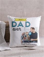 Personalised Best Dad Photo Scatter Cushion