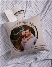 Personalised Circle Photo Scatter Cushion