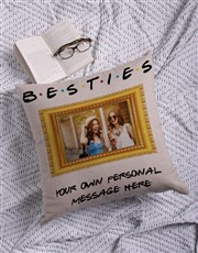 Personalised Besties Photo Scatter Cushion