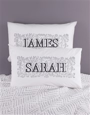 Personalised Name Scroll Pillowcase Set