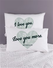 Personalised Love Your Heart Pillowcase Set