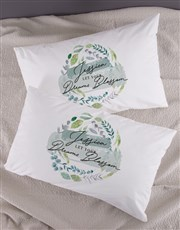 Personalised Dreams Blossom Pillowcase Set