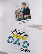 Personalised Dad Photo Message Pillowcase Set