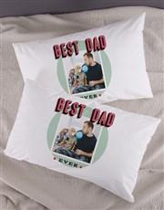 Personalised Best Dad Photo Pillowcase Set