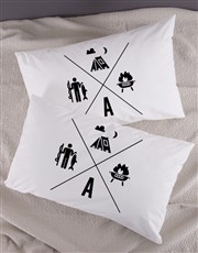Personalised Activities Pillow Case Set