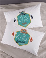 Personalised Happy Campers Pillowcase Set