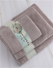 Personalised Watercolour Stone Towel Set