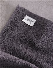 Personalised Watercolour Charcoal Towel Set