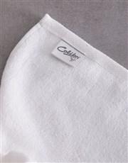 Personalised Blue Print White Towel Set