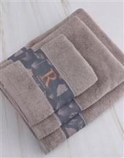 Personalised Glam Coastal Stone Towel Set