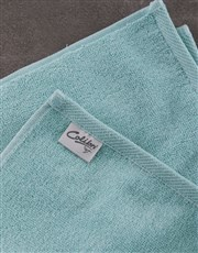 Personalised Glam Coastal Duck Egg Towel Set
