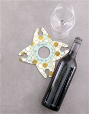 Personalised Always Time Wine Glass & Bottle Holde