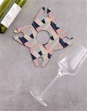 Personalised Love and Wine Glass & Bottle Holder