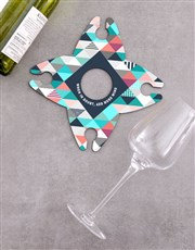 Personalised Add More Wine Glass & Bottle Holder