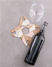 Personalised Love Live Wine Glass & Bottle Holder
