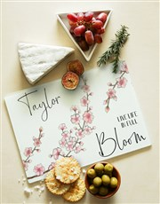 Personalised Full Bloom Glass Chopping Board