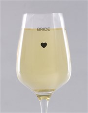 Personalised Bride Single Wine Glass
