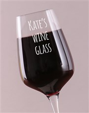Personalised Quick Call Single Wine Glass