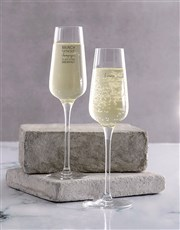 Personalised Brunch Single Champagne Glass