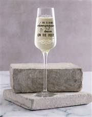 Personalised On The Table Single Champagne Glass