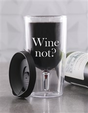Personalised Wine Not? Travel Wine Glass