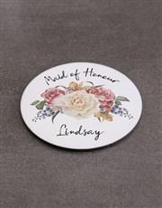 Personalised Maid Of Honour Mug  & Coaster Set