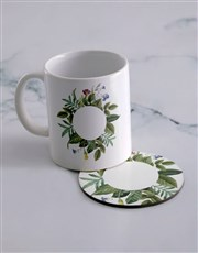 Personalised Own Message Mug  & Coaster Set