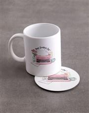 Personalised Secretaries Day Mug And Coaster Set
