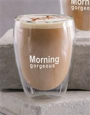 Personalised Morning Double Wall Mug Set