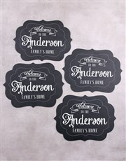 Personalised Our Home Chalk Board Placemat