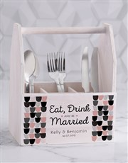 Personalised Eat Drink Utensil Holder