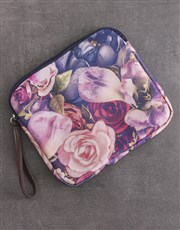 Personalised Floral Tablet Zip Up Pouch