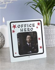 Personalised Office Hero Glass Tile