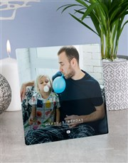 Personalised Happy Birthday Glass Tile