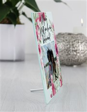 Personalised Floral Bridesmaid Glass Tile