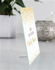 Personalised Maid of Honour Glass Tile