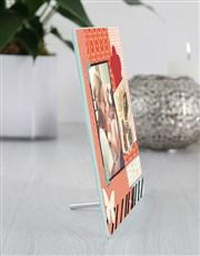 Personalised Scrap Book Glass Tile
