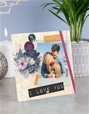 Personalised I Love You Glass Tile