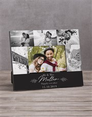 Personalised Mr & Mrs Multi Photo Frame