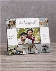 Personalised Our Engagment Multi Photo Frame