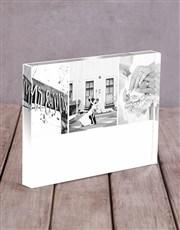 Personalised Multi Photo Acrylic Block
