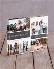 Personalised Family Multi Acrylic Block