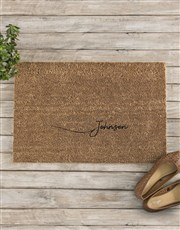 Personalised Surname Doormat